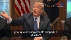 Trump habla sobre la posibilidad de despedir a Mueller