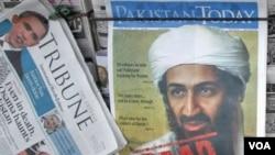 Koran-koran Pakistan memuat berita utama tewasnya Osama bin Laden (3/5).