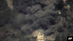 来自俄罗斯国防部官网的一张截图显示叙利亚遭到炸弹攻击(2015年10月2号)