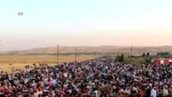 数千叙利亚人涌进库尔德斯坦