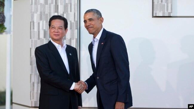 Thủ tướng Nguyễn Tấn Dũng và Tổng thống Mỹ Barack Obama, Hà Nội, ngày 15/02/2016.