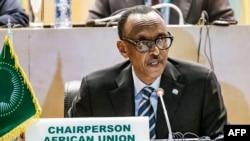 Rais Paul Kagame wa Rwanda aliyemaliza muda wake wa uwenyekiti katika Umoja wa Afrika.