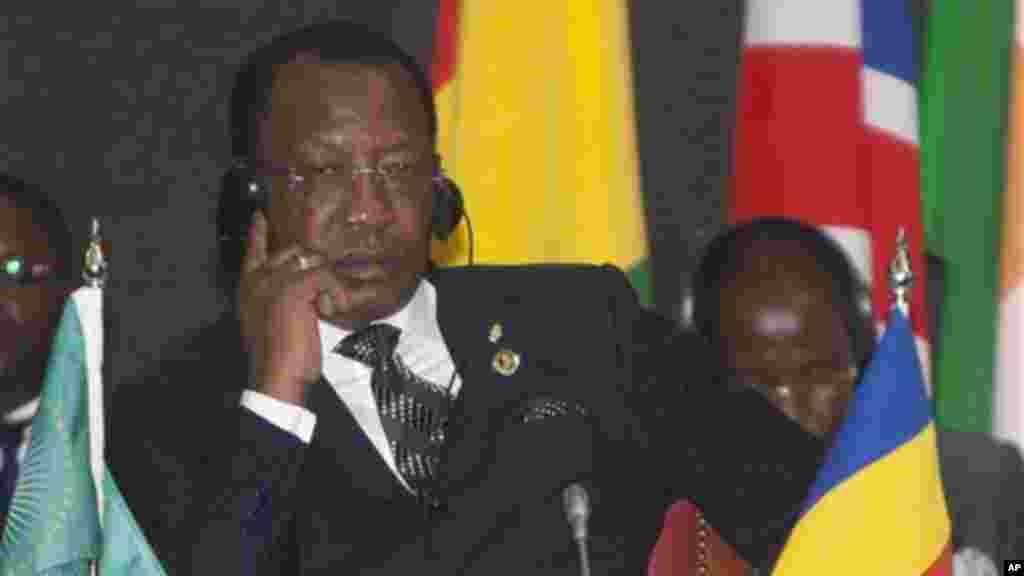 Rais wa Chad, Idriss Deby, katika mkutano wa AU Summit, Nairobi, Kenya.