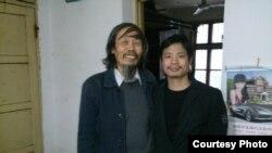 湖南網友黃勇華和邵陽民主人士朱承志(網絡圖片/月半彎)