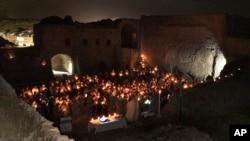"""تصویر صومعه """"دیر مار ایلیا"""" که داعش آن را ویران کرد. این تصویر را ارتش آمریکا در ۳ آوریل ۲۰۱۰ منتشر کرد"""