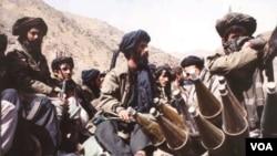 Para anggota kelompok militan Taliban-Afghanistan.