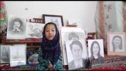 Không tay, cô gái Afghanistan mơ làm hoạ sĩ