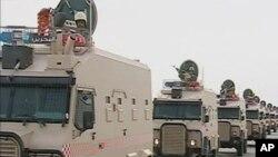 هێزێـکی لهشـکری سعودیـه بهرهو بهحرهین دهڕوات، دووشهممه 14 ی سێی 2011