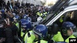 Студенческие демонстрации в Лондоне