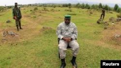 剛果反政府組織M23領袖2013年8月2日會見媒體時資料照片。