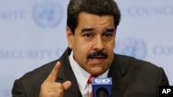 Le président du Venezuela Nicolas Maduro au siège des Nations unies le 28 juillet 2015.