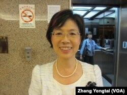 台湾在野党民进党立委尤美女 (美国之音张永泰拍摄)