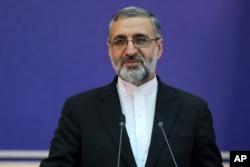 Juru Bicara Kementerian Kehakiman Iran, Gholamhossein Esmaili. (Foto: dok).
