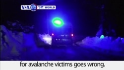 VOA60 World PM - Italy Avalanche Death Toll Rises to 15