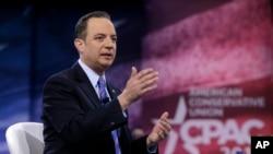 美国共和党全国委员会主席普列巴斯在华盛顿举行的保守派政治行动会议上讲话 (2016年3月4日)
