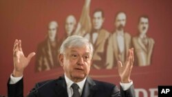 Nouvo Prezidan Meksik la, Andrés Manuel Lopez Obrador.