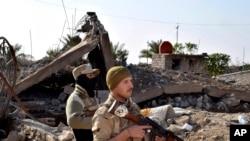 Tropas iraquianas em Ramadi