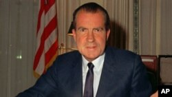 Presiden Richard Nixon mengundurkan diri pada 9 Agustus 1974 dan sebulan kemudian ia diampuni oleh Presiden Gerald Ford (Foto: dok).