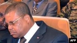 Le Premier ministre du gouvernement de transition en Centrafrique Nicolas Tiangaye, le 17 janvier 2013 à Bangui. (AFP Photo/Patrick Fort)