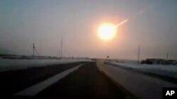 Метеорит, упавший под Челябинском. 15.02.13.