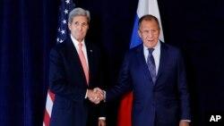 Джон Керри и Сергей Лавров. Нью-Йорк, 27 сентября 2015.