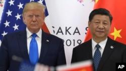 美国总统特朗普和中国国家主席习近平2019年6月29日在日本大阪召开的G20峰会期间见面。