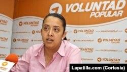 Gaby Orellana, dirigente estudiantil y militante de Voluntad Popular también fue llamada a declarar por el magnicidio.