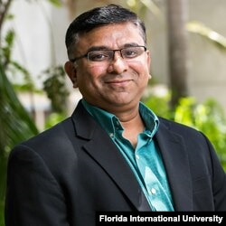 College professor Ravi Gajendran taught his classes remotely for months until Florida International University called him back into the office. (Florida International University)