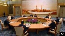 Phiên khai mạc hội nghị thượng đỉnh Tổ chức Hợp tác Thượng Hải tại Đại sảnh đường Nhân dân ở Bắc Kinh