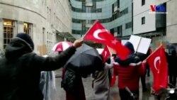 Londra'da Türk Göstericiler Afrin Operasyonuna Destek Verdi