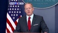 Manchetes Americanas 12 Abril 2017: Assessor de imprensa da Casa Branca, Sean Spicer, pede desculpa