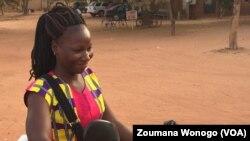 Astrid Coulibaly, à Ouagadougou, le 25 novembre 2017. (VOA/Zoumana Wonogo)