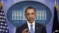 예산안에 대한 백악관의 입장을 밝히는 오바마 대통령