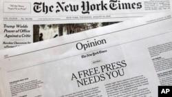Newsrooms vs Trump