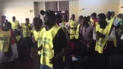 Vendors Singing At A Meeting in Harare
