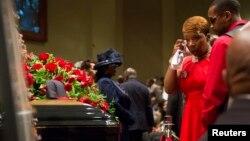 Похороны Майкла Брауна. 25 августа 2014.