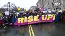 全美多個城市舉行婦女大遊行