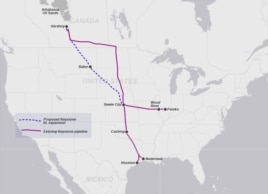 Keystone Pipeline, existing and proposed sections (Click to expand)