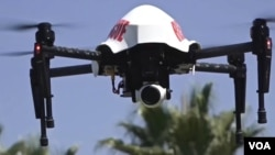 The Los Angeles County Sheriff's Department is one police agency in the United States experimenting with drones. (VOA)