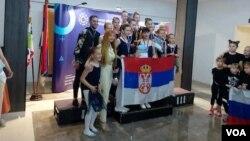 """Balerine iz Gračanice posle nastupa na """"Čukarica Gran priju 2021"""" (Foto: VOA)"""
