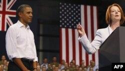 Prezident Barak Obama, Avstraliya Bosh vazirasi Juliya Gillard
