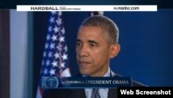 باراک اوباما رئیس جمهوری ایالات متحده در گفتگو با شبکه ام.اس.ان.بی.سی آمریکا