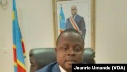 Andre Lite Asebea, le ministre des Droits de l'Homme de la RDC, Kinshasa, 31 octobre 2019. (VOA/Jeanric Umande)