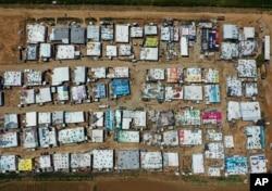 Trại tị nạn người Syria ở thung lũng Bekaa, phía đông Lebanon, ngày 23/4/2019.