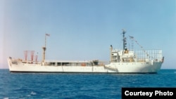 U.S. Coast Guard Cutter Courier is show here in July 1963 on station off Rhodes, Greece.