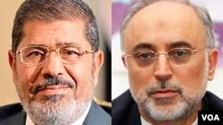 وزیر امور خارجه ایران (راست) با رئیس جمهوری مصر دیدار کرد.