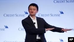 2012年3月中國網絡商務巨擎阿里巴巴的董事長馬雲在香港一次會議上講話