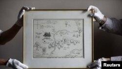 نقشه جنگلی که «وینی د پو» و دوستانش در آن ماجراجویی می کنند زیر چوب حراج می رود