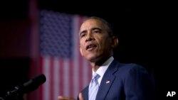 Le président Barack Obama regrette de n'avoir pas pu se rendre à Paris (AP)