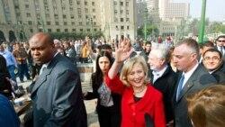 دیدار هيلاری کلينتون از ميدان تحرير در قاهره